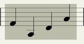 四分音符を範囲選択
